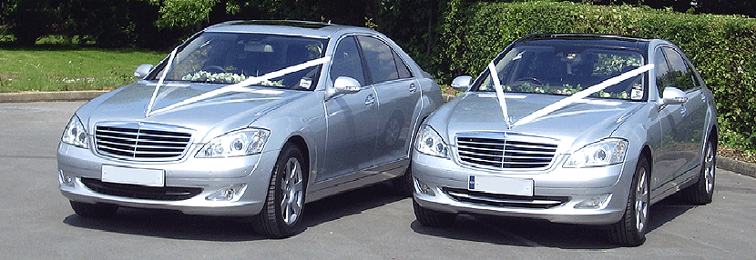 Picture of two Mercedes-Benz Wedding Cars